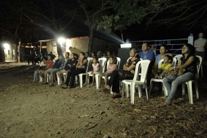 Publikum beim Screening in Juigalpa